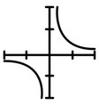 coordinate axis line icon vector image
