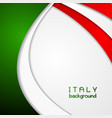 Corporate wavy bright abstract background Italian vector image vector image