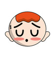 cute baby boy head with hairstyle design vector image vector image