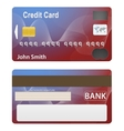 detailed beautiful credit card vector image