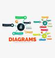 diagram elements set with colour paper vector image