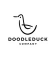 Doodle duck logo icon