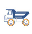 dump truck flat icon in color sections silhouette vector image vector image