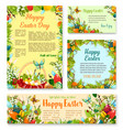 easter day festive banner and poster template set vector image vector image
