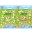 Elephant maze vector image