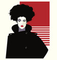fashion woman in style pop art art fashion vector image vector image