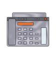 fax machine icon vector image