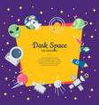 flat space icons background with place vector image vector image