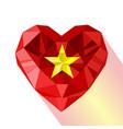 flat style logo symbol of love vietnam vector image