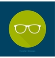 Geek glasses icon with long shadows vector image vector image