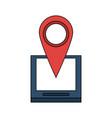 gps location pin icon image vector image vector image