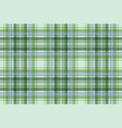 green plaid pixel seamless fabric texture vector image vector image