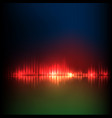 green-red-blue wave abstract equalizer vector image vector image