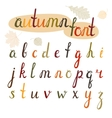 Hand-drawn autumn font vector image vector image