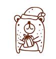 Hand Drawn Christmas Bear vector image vector image