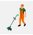 hand grass cutter icon isometric style vector image