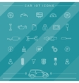 Internet Of Things For The Car Icons vector image vector image