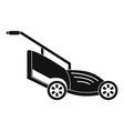 lawn mower icon simple style vector image vector image