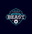 modern professional emblem logo for soccer team vector image vector image
