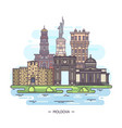 moldovan landmarks or moldova sightseeing places vector image
