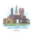 moldovan landmarks or moldova sightseeing places vector image vector image