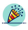 party popper color icon vector image