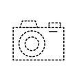 photograph camera lens flash device studio vector image