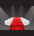 podium template 3d realistic winner podium with vector image vector image
