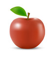 realistic 3d apple isolated template for your vector image