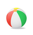 realistic detailed 3d beach ball vector image