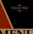 Restaurant menu design in retro style vector image vector image