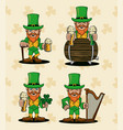 saint patricks elf cartoon vector image