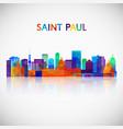 saint paul skyline silhouette vector image vector image