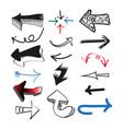 set doodle arrows simple vector image vector image