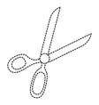 sewing scissors isolated icon vector image vector image