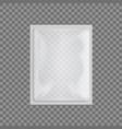 slim white shiny foil package for branding vector image vector image