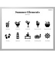 summer holiday elements solid pack vector image vector image