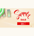 summer sale get up fifty percent discount summer vector image