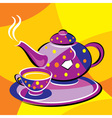 tea kettle vector image vector image