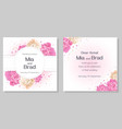 template for a wedding invitation beautiful white vector image vector image
