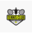 tennis club badge logo-7 vector image