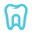 tooth logo with the door at home Dental vector image