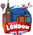 traveling to city of london vector image vector image