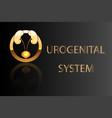 urogenital system kidneys bladder emblem vector image vector image