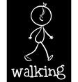Walking vector image vector image