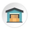 warehouse icon circle vector image vector image