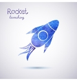 watercolor rocket icon vector image