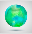 watercolor-turquoise-green-blot vector image vector image