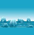 winter arctic landscape vector image vector image
