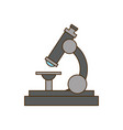 school microscope biology science study vector image